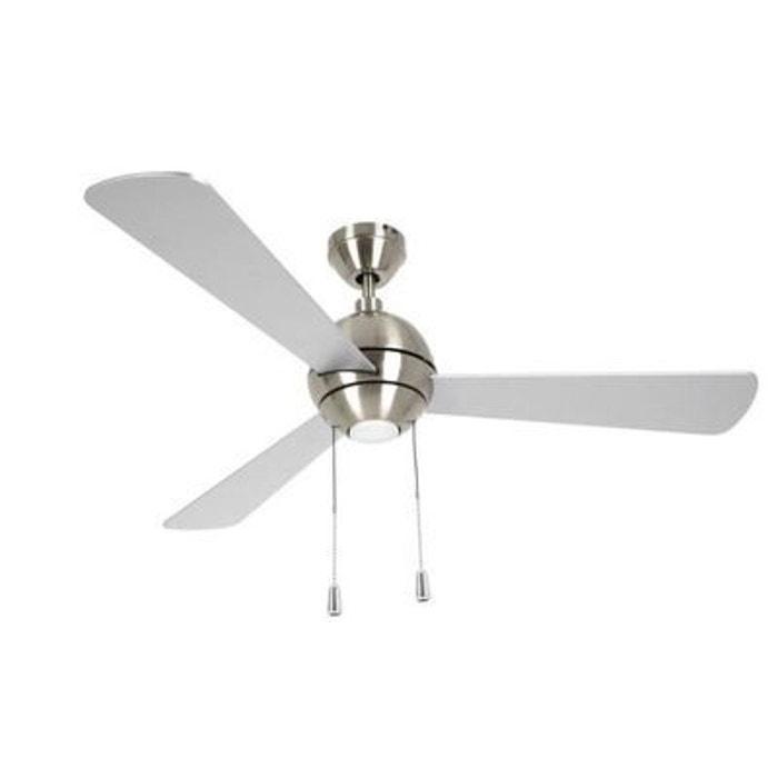 Ventilateur de plafond Bordono 122 cm Chrome Argenté Pin BOUTICA DESIGN
