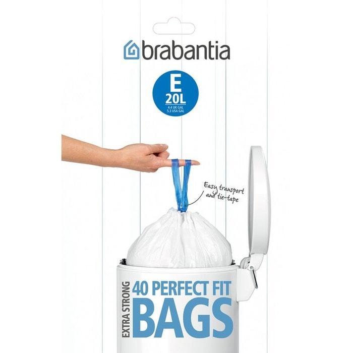 sac poubelle sacs 20l blanc brabantia la redoute. Black Bedroom Furniture Sets. Home Design Ideas