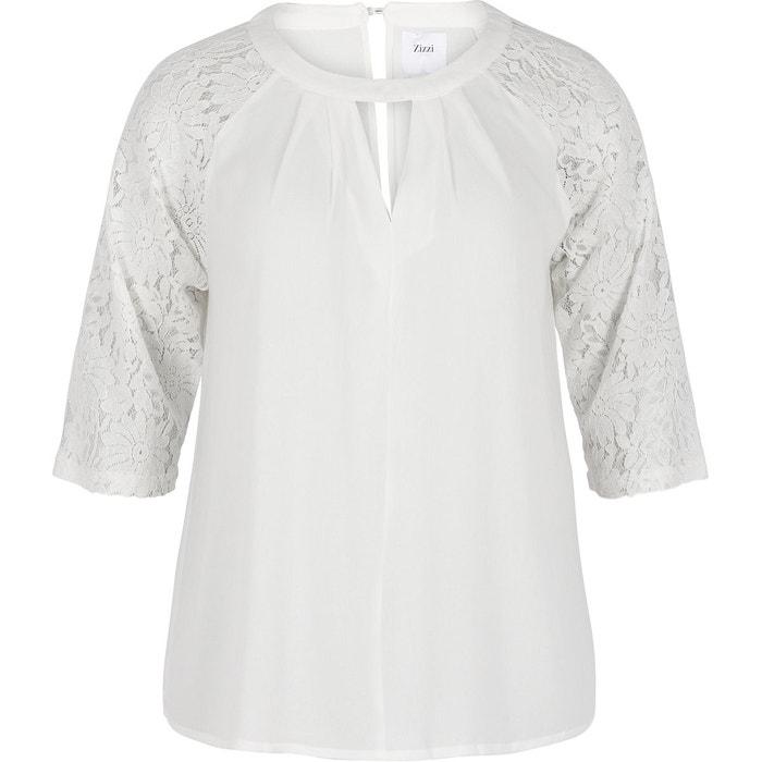 Blouse blanche chimie la redoute collar blouses - Blouse blanche chimie ...