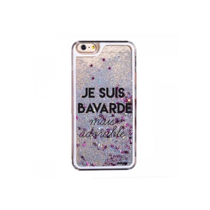 coque iphone 6 paillette argent