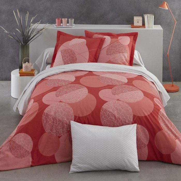 housse de couette kim en lyocell rouge rouge origin la redoute. Black Bedroom Furniture Sets. Home Design Ideas
