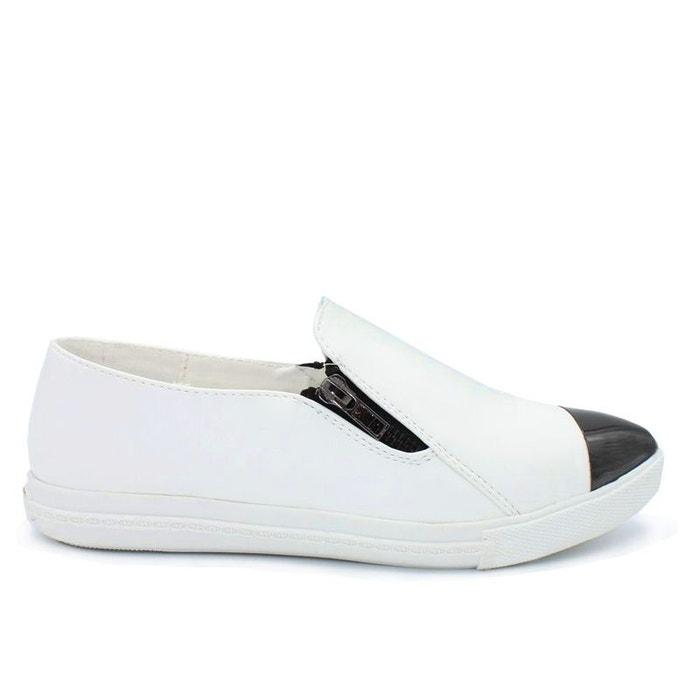 Basket slippers blanc Kebello  f2393d64e
