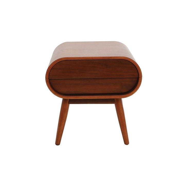 table de chevet design 1 tiroir bjorg noyer miliboo la redoute. Black Bedroom Furniture Sets. Home Design Ideas