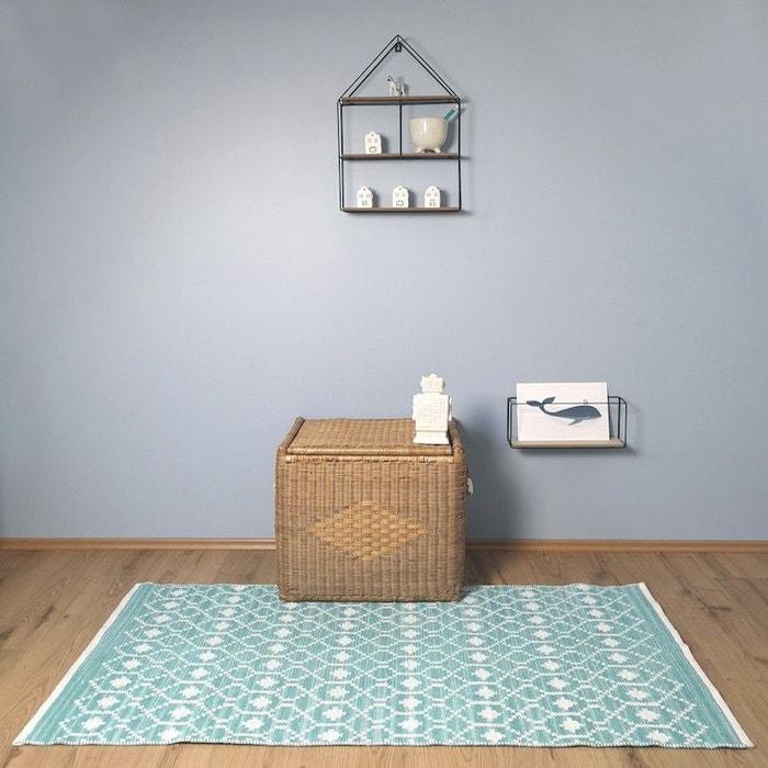 Tapis en coton bleu pour chambre enfant nomade nattiot bleu Nattiot ...