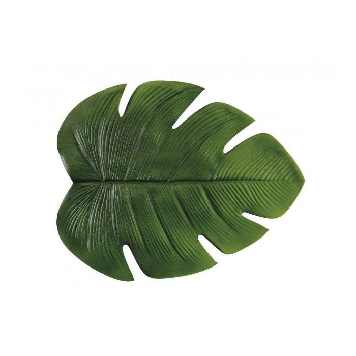 Set de Table en Vinyle Vert Feuille WADIGA