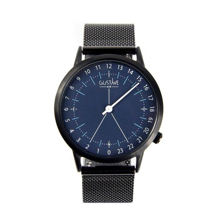 Mode À Vendre Montre 24h bracelet milanais bleu Gustave Et Cie | La Redoute Acheter Pas Cher Magasin H6EwB9