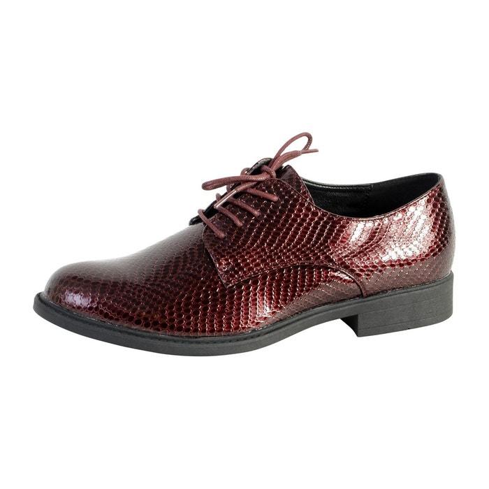 Chaussure derby bordeaux rouge The Divine Factory