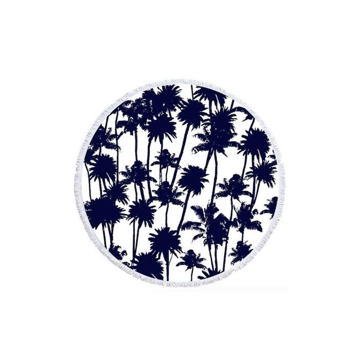 serviette ronde la palmeraie bleu nuit les antillaises la redoute. Black Bedroom Furniture Sets. Home Design Ideas
