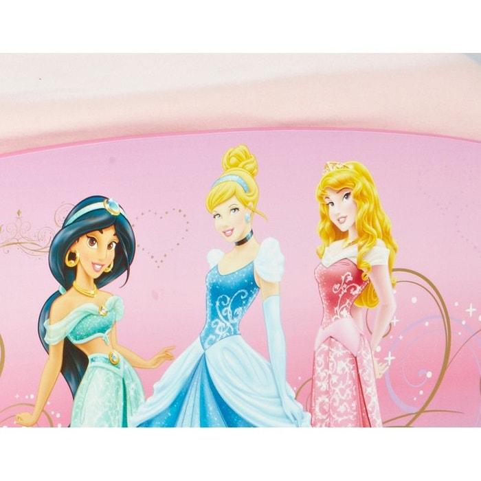 lit princesse disney avec tiroirs de rangement rose disney princess la redoute. Black Bedroom Furniture Sets. Home Design Ideas