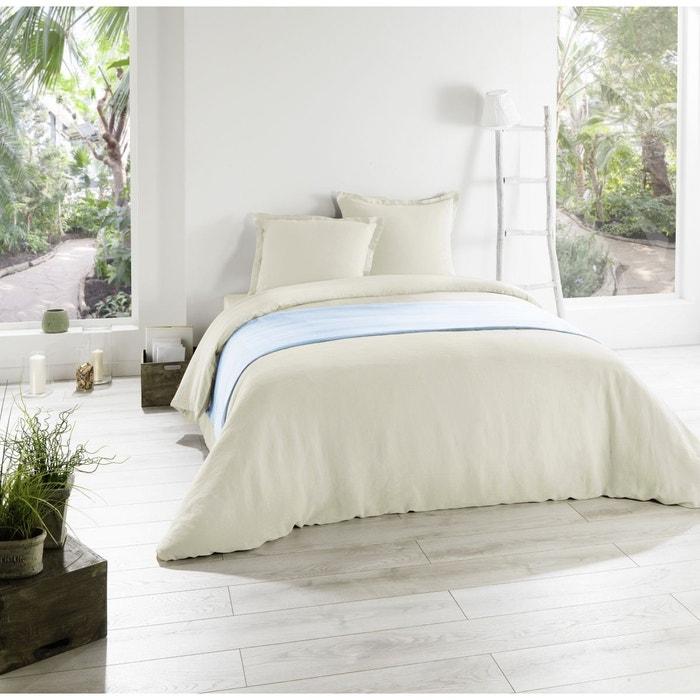 drap housse metis lin coton beige beige c design home textile la redoute. Black Bedroom Furniture Sets. Home Design Ideas