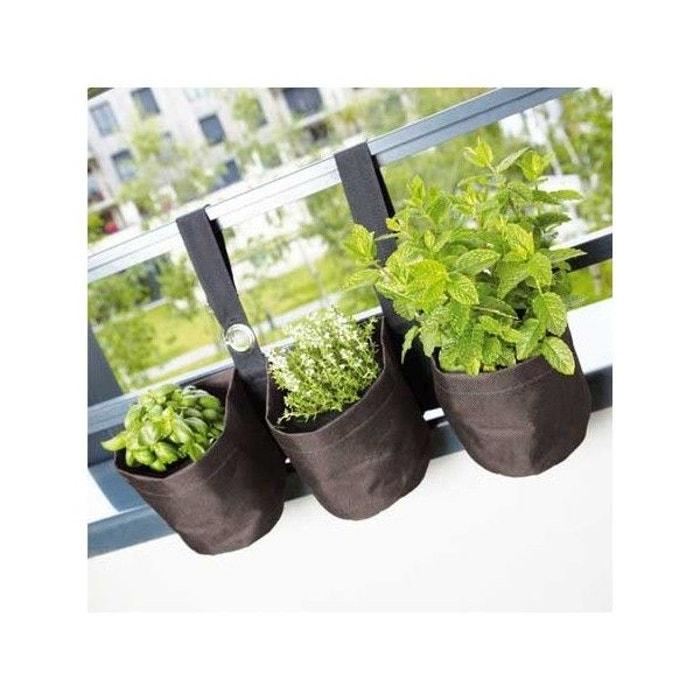 Triple jardinière suspendue en PVC pour balcon INNOV AXE