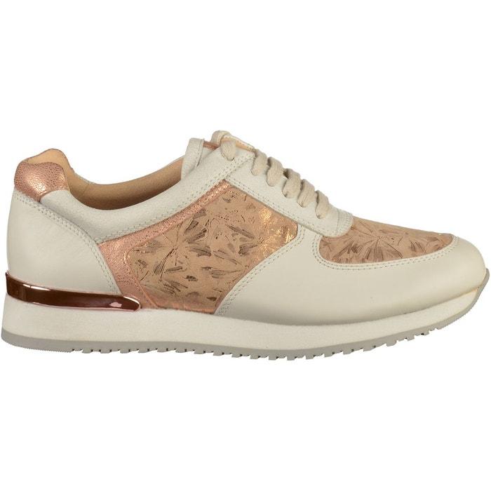 Sneaker blanc rose Caprice Le Moins Cher À Vendre I4MFd9o