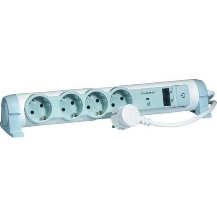 Legrand rallonge multiprise lectrique 4 prises mu blanc - Rallonge electrique multiprise ...