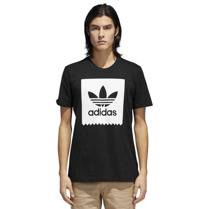 T-shirt col rond manches courtes imprimé devant noir Adidas Originals  50d388a4705
