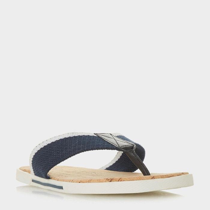 Sandales à entredoigt - iniesta  bleu marine toile Dune London  La Redoute