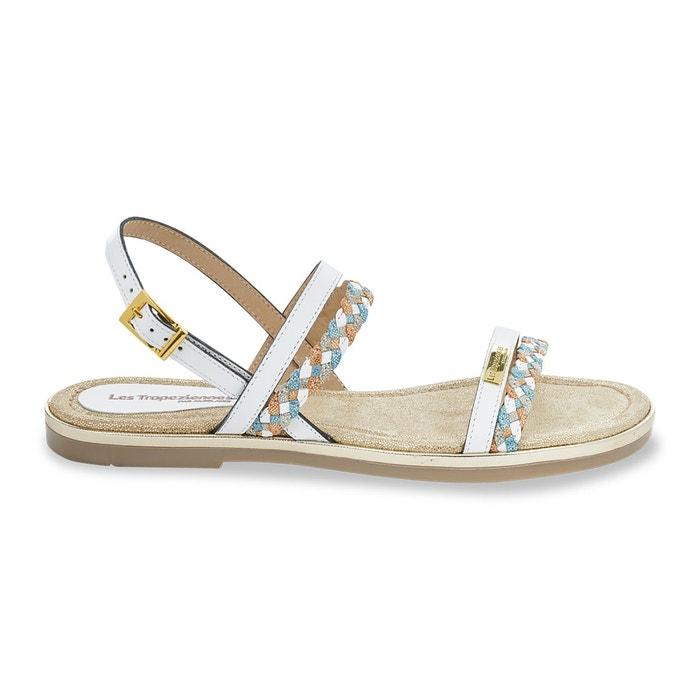 Sandales cuir bridget blanc Les Tropeziennes Par M Belarbi