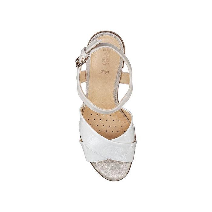 Sandales à talons d annya m.s. c blanc Geox