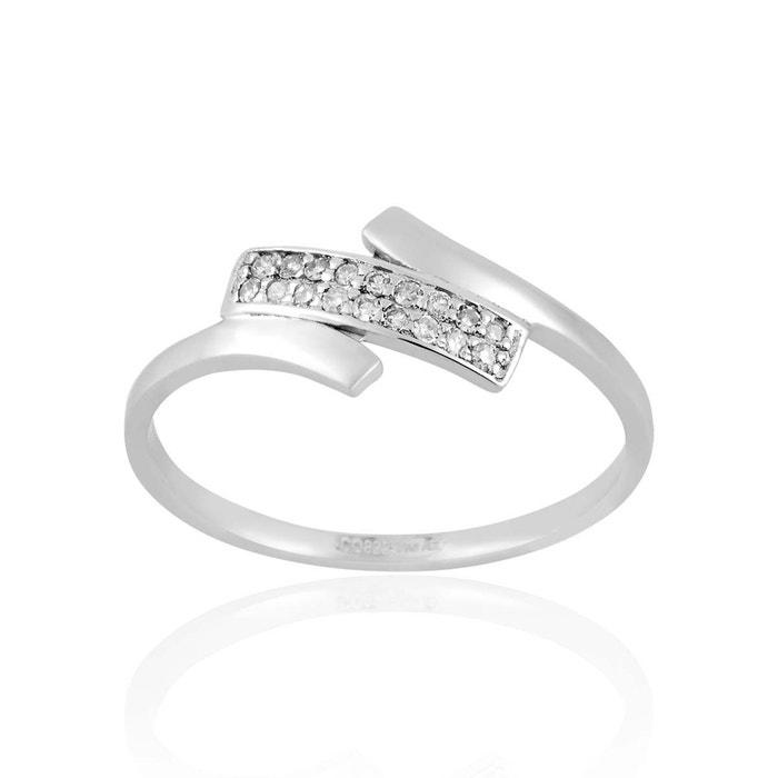 abordable Bague en or 750/1000 blanc et diamant blanc blanc Cleor | La Redoute Réel Pas Cher En Ligne Vente Nicekicks IZABoU