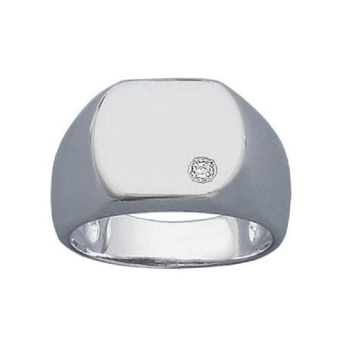 Bague chevalière luxe oxyde de zirconium argent 925 couleur unique So Chic Bijoux | La Redoute Nice En Ligne Le Moins Cher Prix Pas Cher 0RQo0