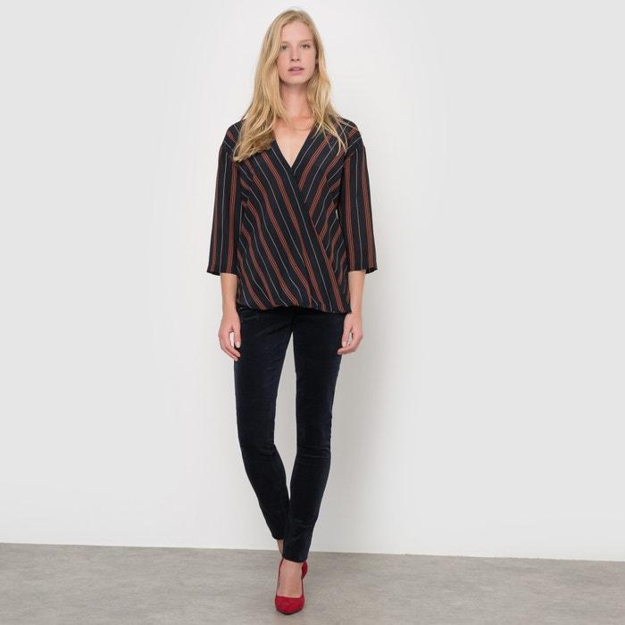 afbeelding Gestreepte blouse in zijde La Redoute Collections