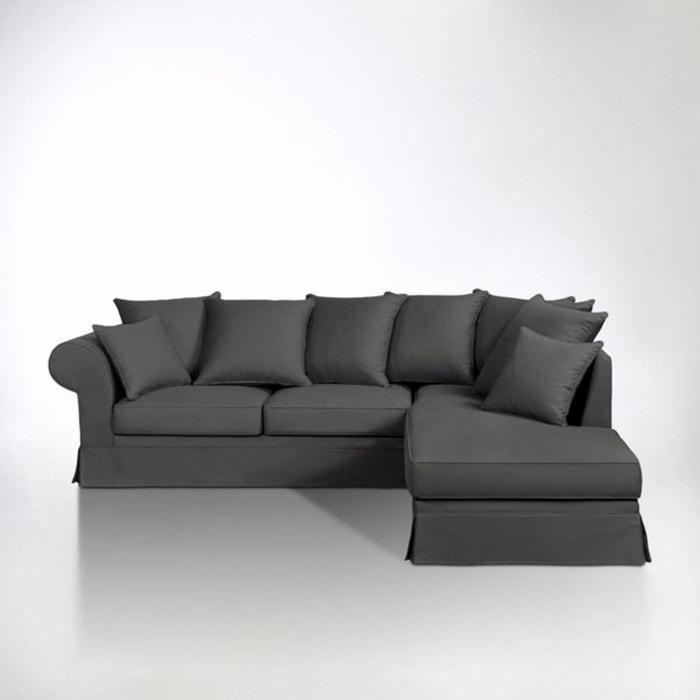canap d 39 angle coton demi natt fixe adelia la redoute. Black Bedroom Furniture Sets. Home Design Ideas