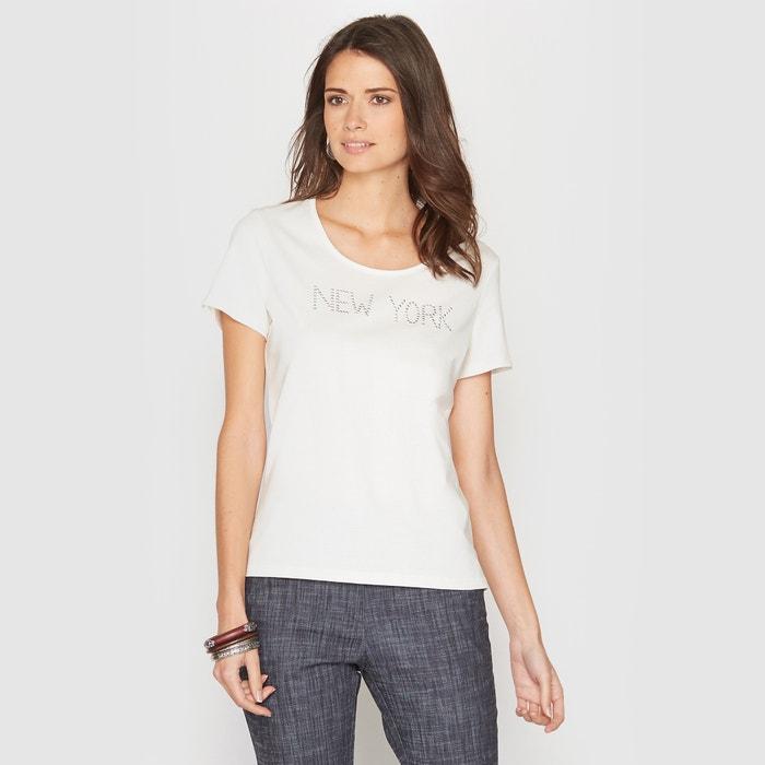 afbeelding T-shirt, motief in stras ANNE WEYBURN