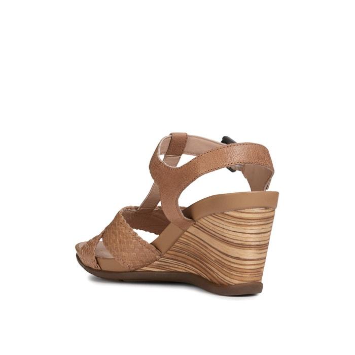Sandales compensées respirantes en cuir Dorotha