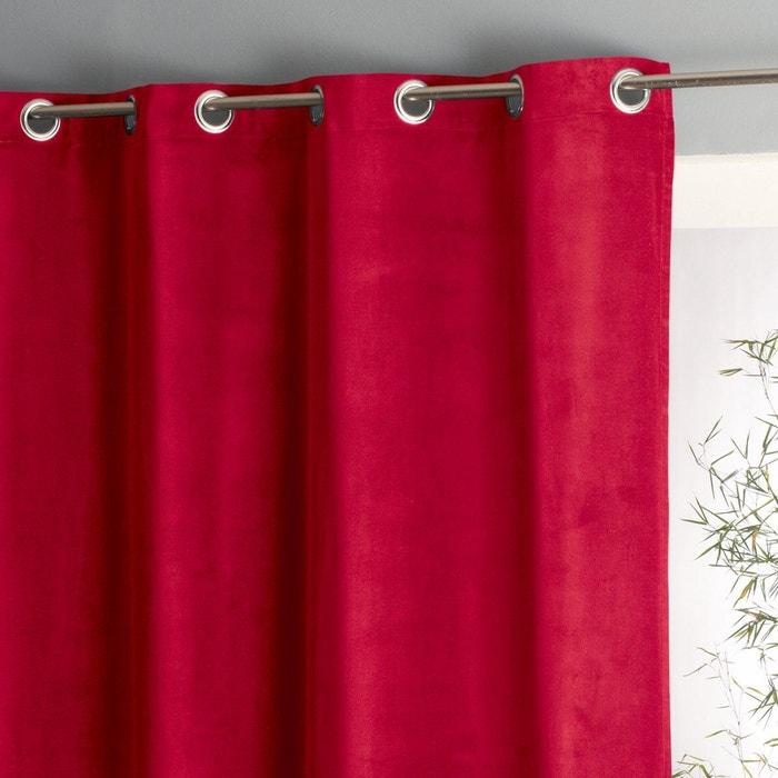 rideau velours pur coton oeillets wouri la redoute interieurs la redoute. Black Bedroom Furniture Sets. Home Design Ideas
