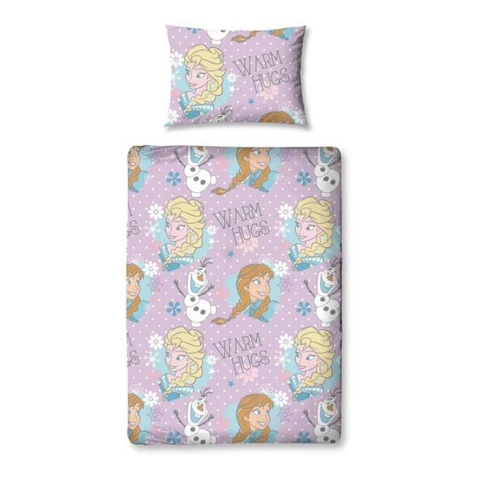 pack complet lit traineau reine des neiges disney lit matelas parure couette oreiller bleu. Black Bedroom Furniture Sets. Home Design Ideas