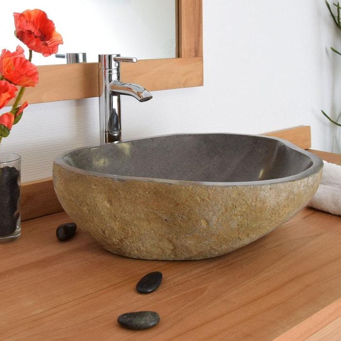 vasque a poser pierre de riviere Vasque à poser en pierre de rivière eden-roc 60 naturel Ocean Line | La  Redoute