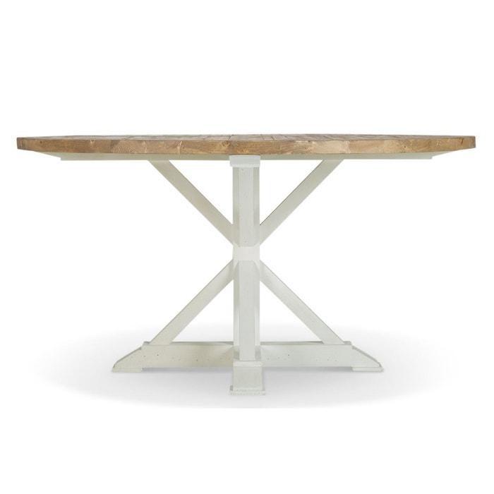 Table Ronde Bois Blanc Cesure 150cm Blanc Decoration D Autrefois