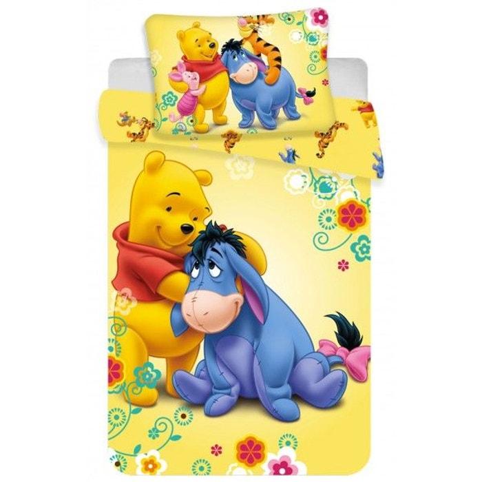 Winnie l\'ourson yellow - parure de lit bébé - housse de couette ...