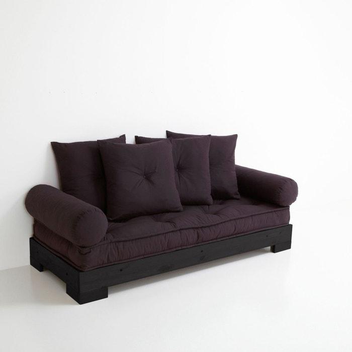 banquette convertible 2 ou 3 p socle noir sahel la redoute interieurs la redoute. Black Bedroom Furniture Sets. Home Design Ideas