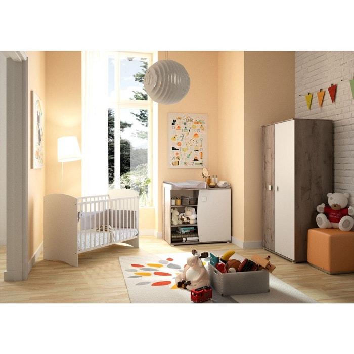 chambre b b blanche effet ch ne cendr cb5003 terre de nuit bois naturel terre de nuit la. Black Bedroom Furniture Sets. Home Design Ideas