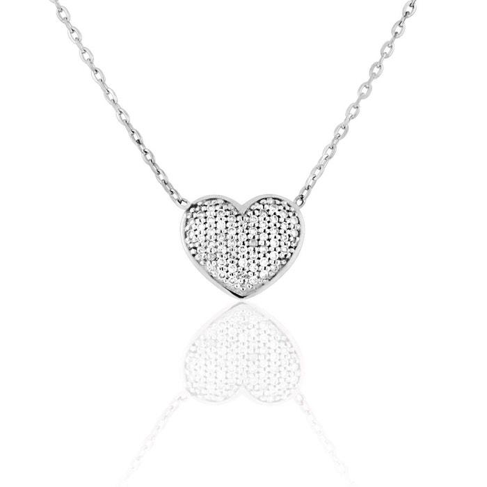 Collier or 750/1000 diamant blanc Cleor | La Redoute Express Rapide Faire Acheter La Vente En Ligne Grande Vente À Vendre Acheter Pas Cher 2018 Nouveau U4ejxfxD