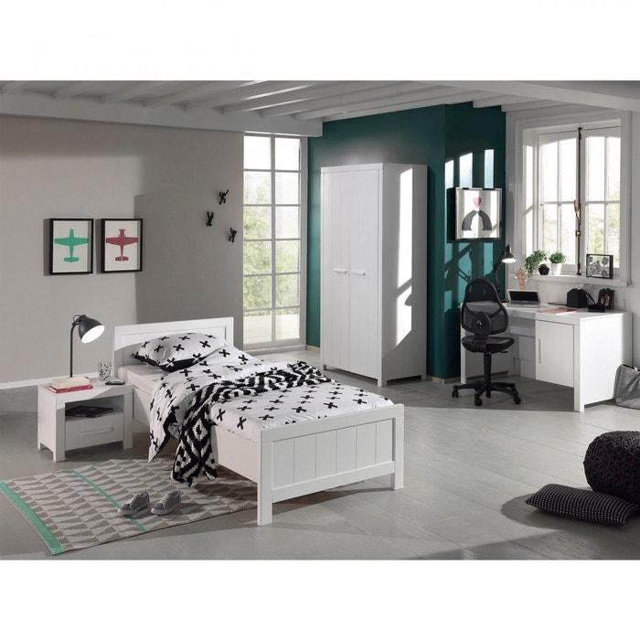 Chambre enfant 90×200 blanche cb2011  terre de nuit blanc