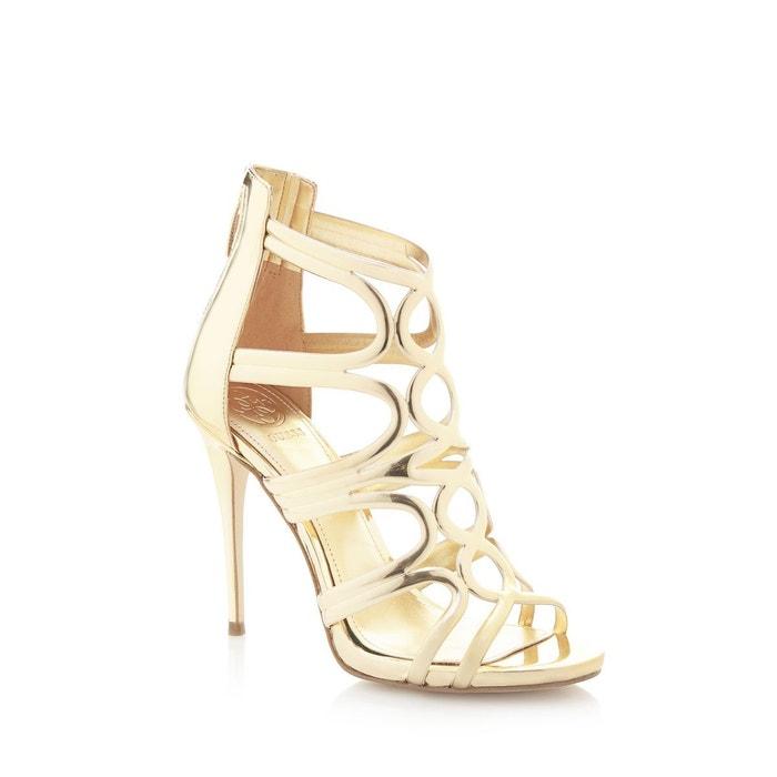 Sandales teigan effet métallisé  or Guess  La Redoute
