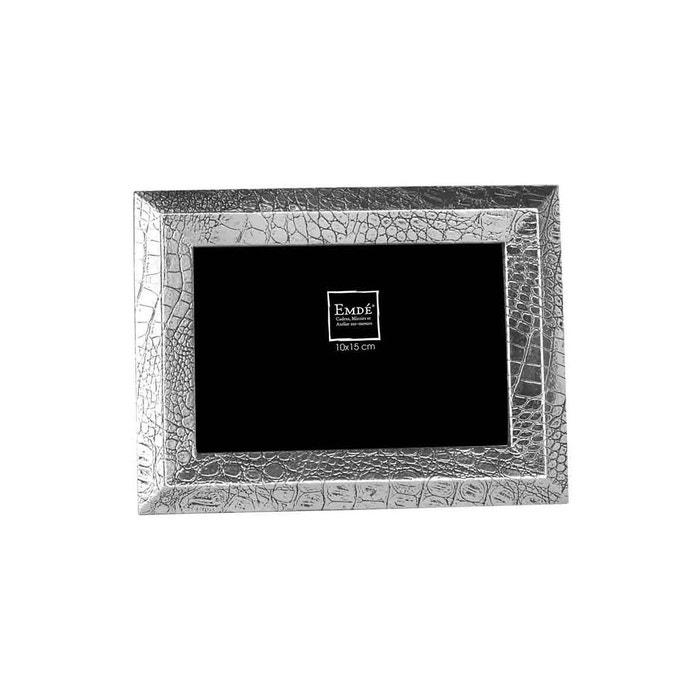 cadre texture serpent argent 15x20 argent emde premium la redoute. Black Bedroom Furniture Sets. Home Design Ideas