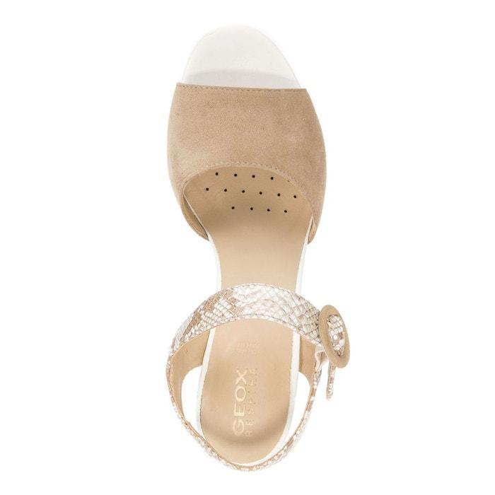 Sandales cuir à talons D EUDORA C, Beige