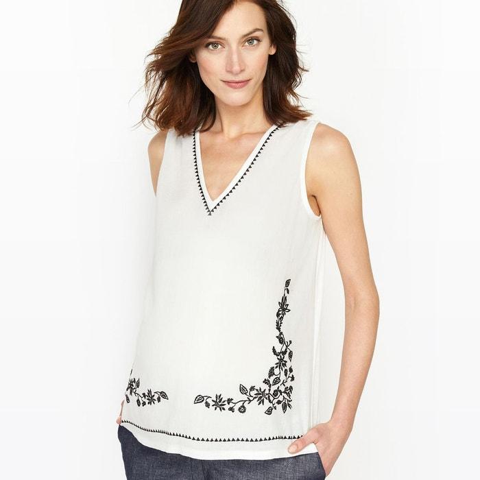 T-shirt de grossesse, bi-matière, détail broderie La Redoute Collections