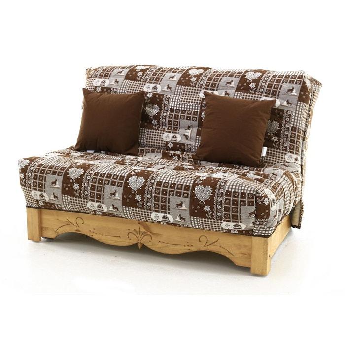 canap convertible bz pin massif sculpt 140 x 200 cervino aspin marron couleurs des alpes la. Black Bedroom Furniture Sets. Home Design Ideas