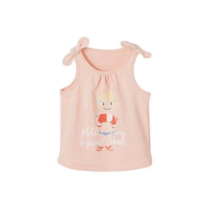 015813807477c Débardeur bébé fille à nouettes rose pale Vertbaudet