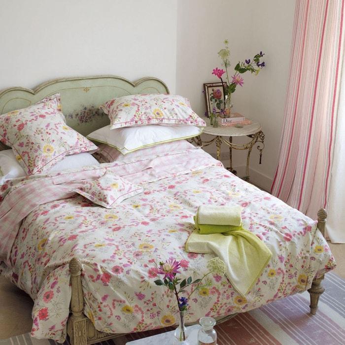 Housse de couette wild floral en satin de coton rose rose designers guild la redoute - Housse de couette designer guild ...