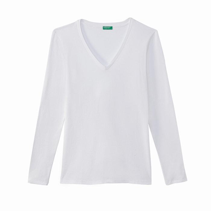 T-shirt scollo a V maniche lunghe  BENETTON image 0