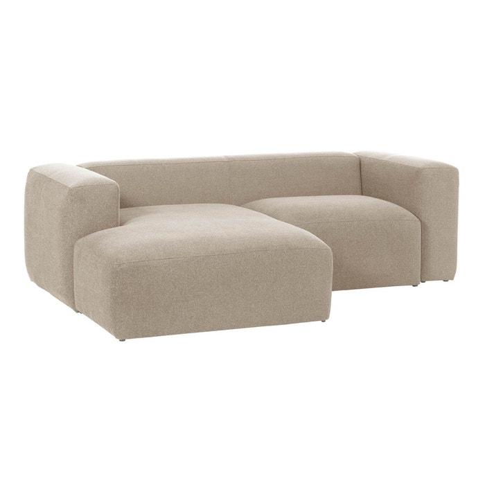 Canapé d'angle blok 2 places fixe gauche 240 cm gris Kave ...