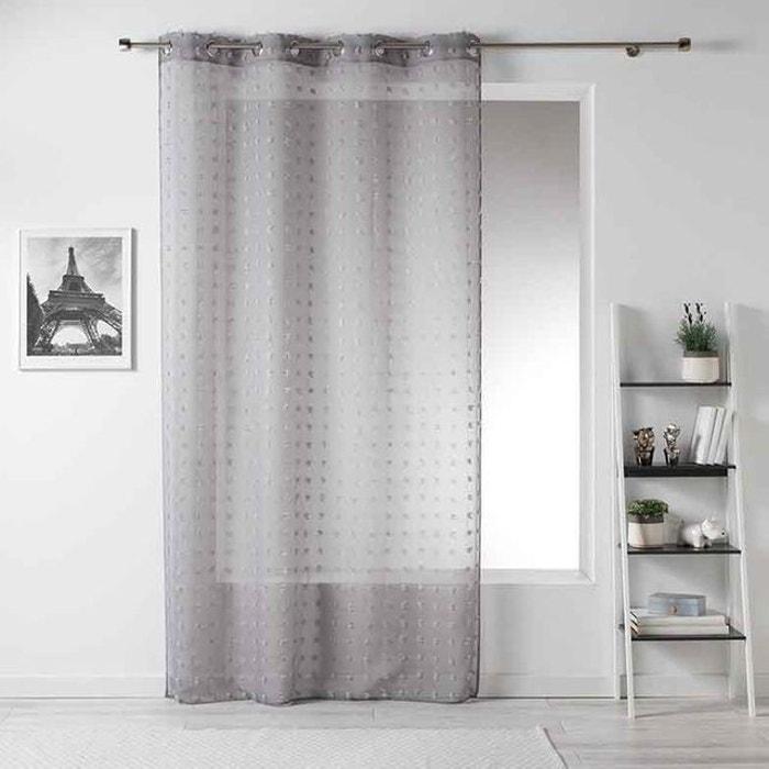 voilage petits pompons home maison la redoute. Black Bedroom Furniture Sets. Home Design Ideas
