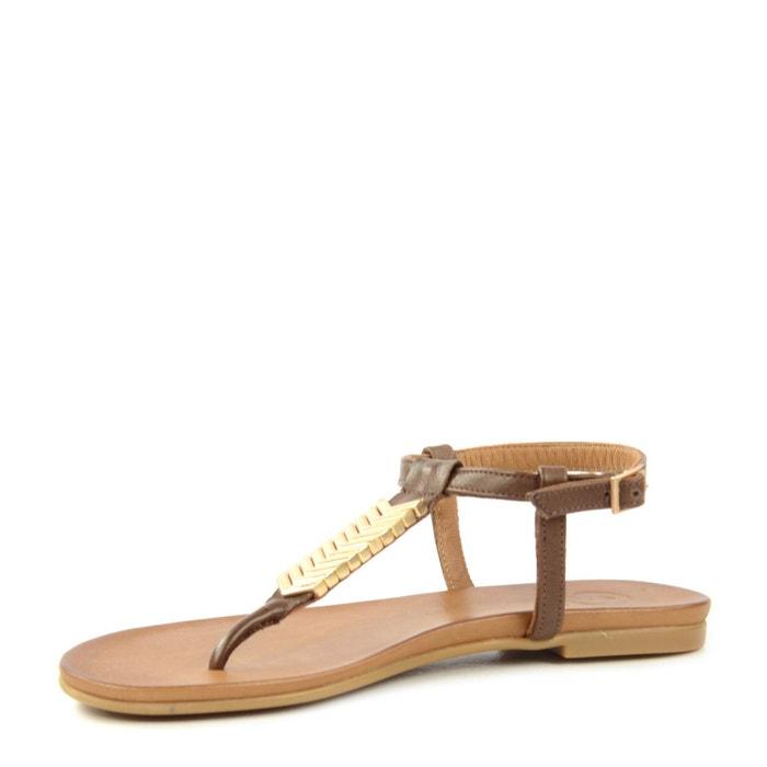 Sandales brunes foncées marron Sacha