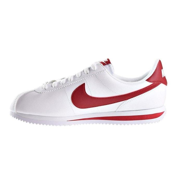 Basket nike cortez basic leather - 819719-101 blanc Nike