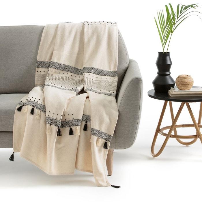 plaid cru parfeto ecru la redoute interieurs la redoute. Black Bedroom Furniture Sets. Home Design Ideas