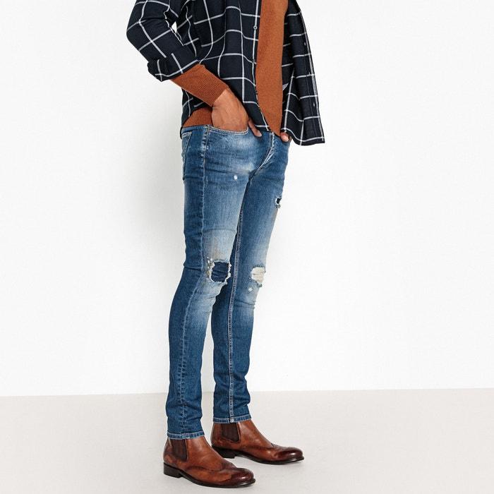 Jeans slim, efeito destroy  La Redoute Collections image 0
